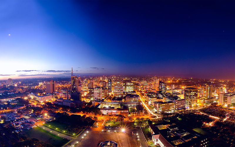 File:Nairobi night skyline at dusk .jpg