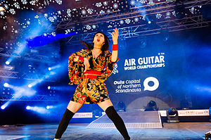 "Air guitar - Nanami ""Seven Seas"" Nagura, Air Guitar World Champion 2014 in Oulu, Finland on August 29th."
