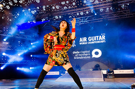 "Nanami ""Seven Seas"" Nagura, Air Guitar World Champion 2014 in Oulu, Finland on August 29th. Nanami.jpg"