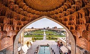 Naqsh-e Jahan Square from the gheisariye Vault.jpg