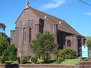 Naremburn, New South Wales - Image: Naremburn St Cuthberts Anglican Church