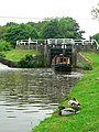 Narrowboat and Hirst Lock, Shipley - geograph.org.uk - 1340024.jpg