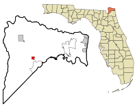 Nassau County Florida Incorporated and Unincorporated areas Callahan Highlighted.svg