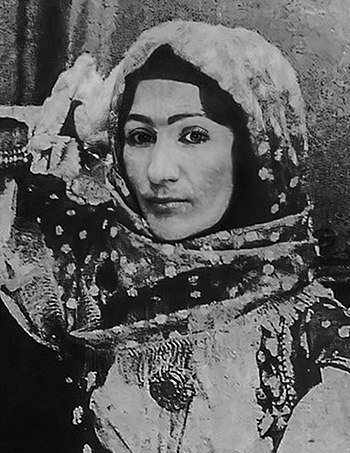 Khurshidbanu Natavan was the daughter of Mehdi Gulu-khan, the last ruler of the Karabakh khanate (1748–1822), she is considered one of the best lyrical poets of Azerbaijan. - List of Azerbaijanis