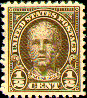 Fourth Bureau issue - Image: Nathan Hale Stamp