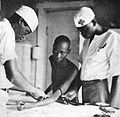 Natives working as medical assistants in a Protestant mission, Belgian Congo.jpg