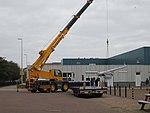 Naval gun being moved at the Marinemuseum Den Helder.jpg