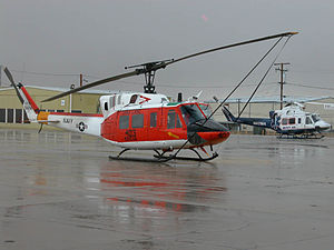 Bell Helicopter - Comparison of the Bell 212 (U.S. Navy HH-1N) and 412 (Mercy Air) at the Mojave Airport