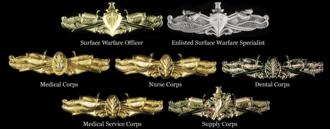 Surface warfare insignia - Surface Warfare insignias
