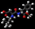 Neotame molecule ball.png