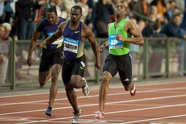 Nesta Carter Tyson Gay 2010 Memorial Van Damme.jpg