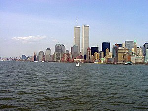 History of New York City (1978–present) - The World Trade Center skyline before September 11, 2001.