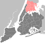 Map of the Bronx showing Westchester Square