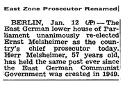New York Times - Melsheimer re-elected - 13. Januar 1955