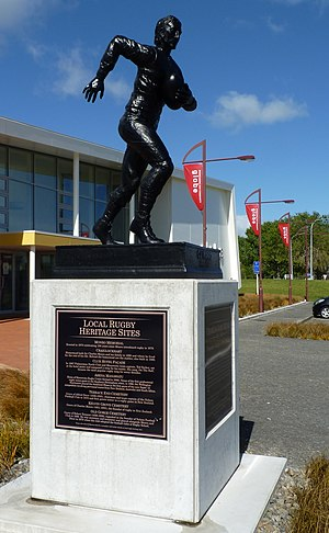 Charles Monro (rugby union) - Memorial in front of New Zealand Rugby Museum, Palmerston North