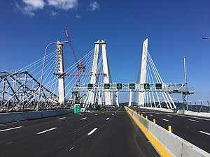 New Tappan Zee Bridge - New Tappan Zee Bridge while under construction, one week before its official opening
