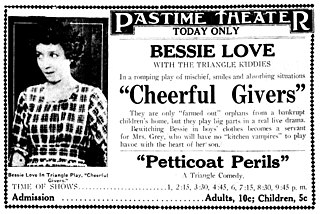 <i>Cheerful Givers</i> 1917 silent film by Paul Powell