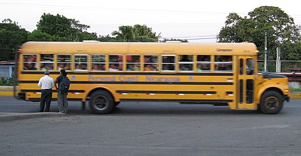 Side view of a typical bus Nicaragua bus.jpg