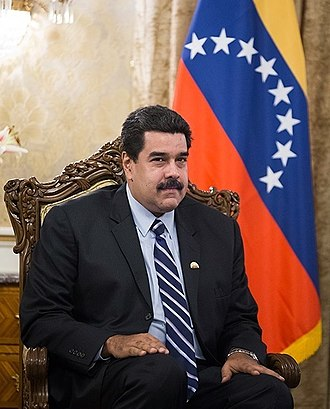 Nicolás Maduro - Image: Nicolás Maduro in meeting with Iranian President Hassan Rouhani in Saadabad Palace