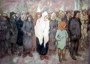 People's Party (interwar Romania) - ... and Queuing for Bread, by the left-leaning artist Nicolae Tonitza.