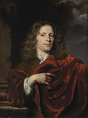 Portrait of a gentleman in a red mantle