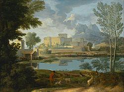 Nicolas Poussin: Landscape with a Calm (Un Tem[p]s calme et serein)