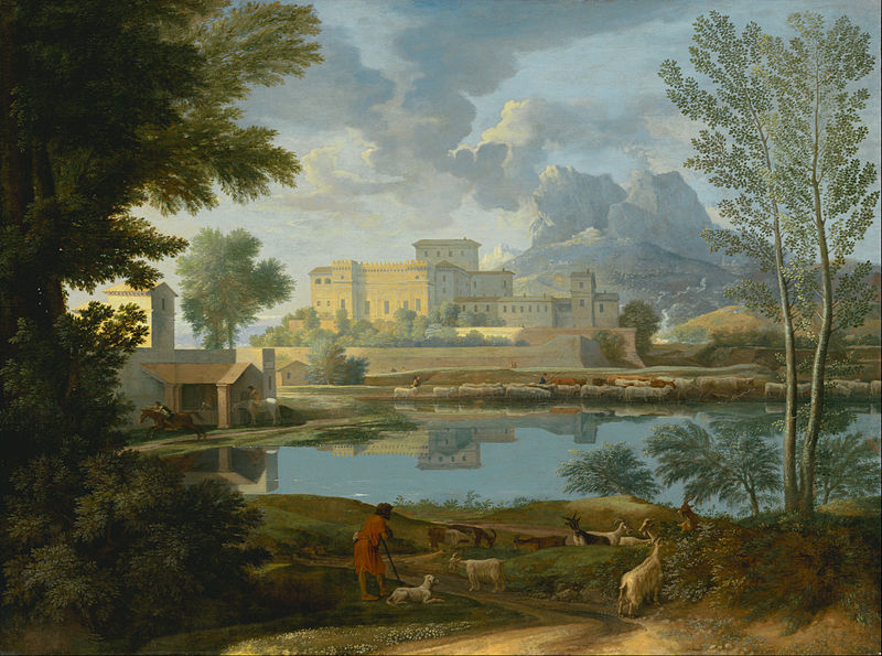 File:Nicolas Poussin (French - Landscape with a Calm - Google Art Project.jpg