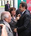 Nicolas Sarkozy, Joelle et Charles Ceccaldi Raynaud, 2005.jpg