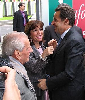 Joëlle Ceccaldi-Raynaud - Image: Nicolas Sarkozy, Joelle et Charles Ceccaldi Raynaud, 2005