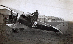 Nieuport 27 - Nieuport 27 trainer of the 31st Aero squadron.