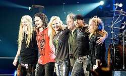 I Nightwish in concerto a Mantova nel 2009.