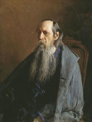 Портрет Михаила Салтыкова кисти Н. А. Ярошенко, 1886 год
