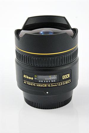 Nikon AF DX Fisheye-Nikkor 10.5mm f/2.8G ED - Image: Nikon DX fisheye DSC7315EC