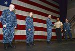 Nimitz CO congratulates frocked PO3 151125-N-CE703-043.jpg