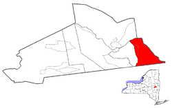 Location within Schenectady County