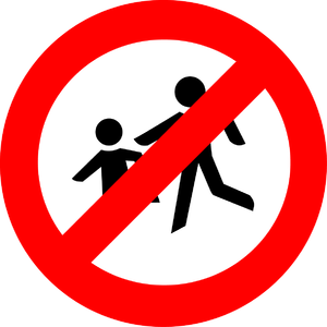Sign – no children