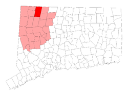 Location in Lichfield County, Connecticut