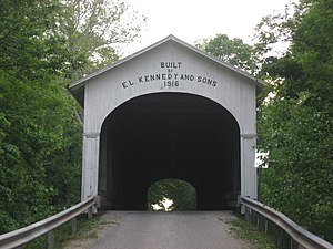 Rushville Township, Rush County, Indiana - The Norris Ford Covered Bridge, a historic site in the township