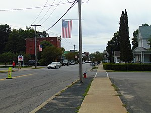 Northville, Fulton County, New York - Looking down North Main Street in Northville