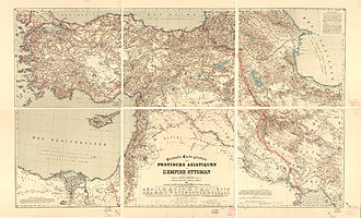 """Heinrich Kiepert - """"New General Map of the Asian/Eastern Provinces of the Ottoman Empire: Without Arabia"""" by Heinrich Kiepert"""