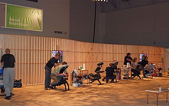 Novell BrainShare - Chair massages being given during BrainShare 2007 in the Salt Palace