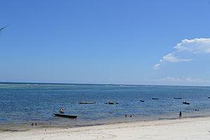 Nyali Beach from the Reef Hotel during high tide in Mombasa, Kenya 51.jpg