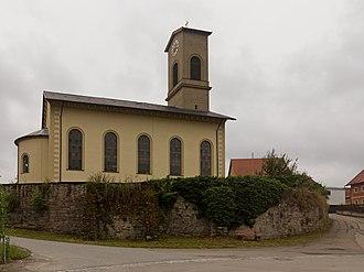 Oberdachstetten - Image: Oberdachstetten, die evangelisch lutherische Pfarrkirche Sankt Bartholomäus D 5 71 183 1 foto 6 2016 08 05 11.47