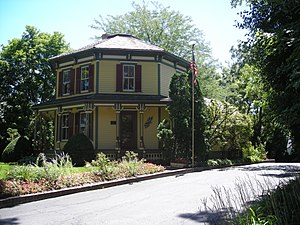 Barrington, Illinois - The Octagon House, located on Main Street