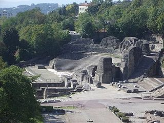 Odeon of Lyon small ancient Roman theatre in Lyon, France