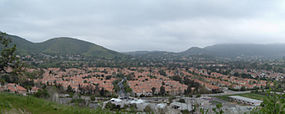 Panorama of Oak Park and the Simi Hills