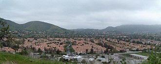 Oak Park, California - Panorama of Oak Park and the Simi Hills