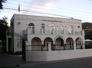 British Virgin Islands - Legislative Council building in Road Town. The High Court sits upstairs.