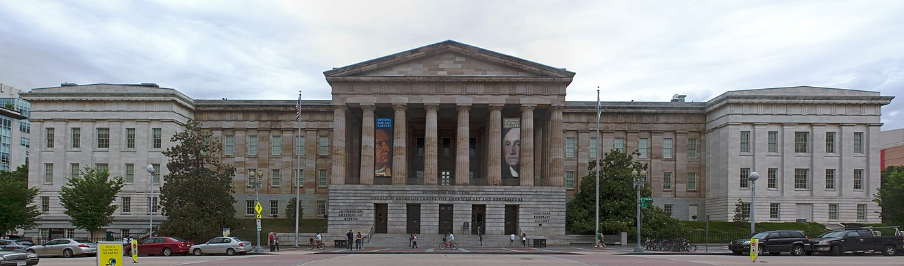 The Smithsonian American Art Museum's main building is shared with the National Portrait Gallery, as seen from G Street NW in 2011 Old Patent Office, Washington, D.C. 2011.jpg