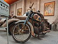 Old blue and white motorcycle of the Association Lorraine des Amateurs dAutomobiles.JPG